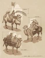 Desert Camels by gavinli
