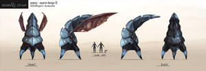 Eden Star 'Swarm' Creature Concept by gavinli