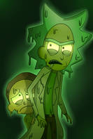 Toxic Rick and Morty by thecutefluffykitten