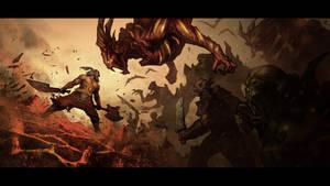 Diablo 3: Intimidating Shout by poojipoo