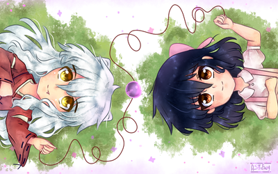 Inuyasha and Kagome by ASttefany