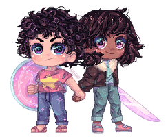 MSpaint - Steven and Connie Pixel Art by ASttefany