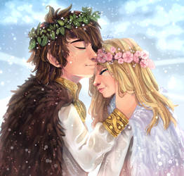 Hiccup and Astrid by ASttefany