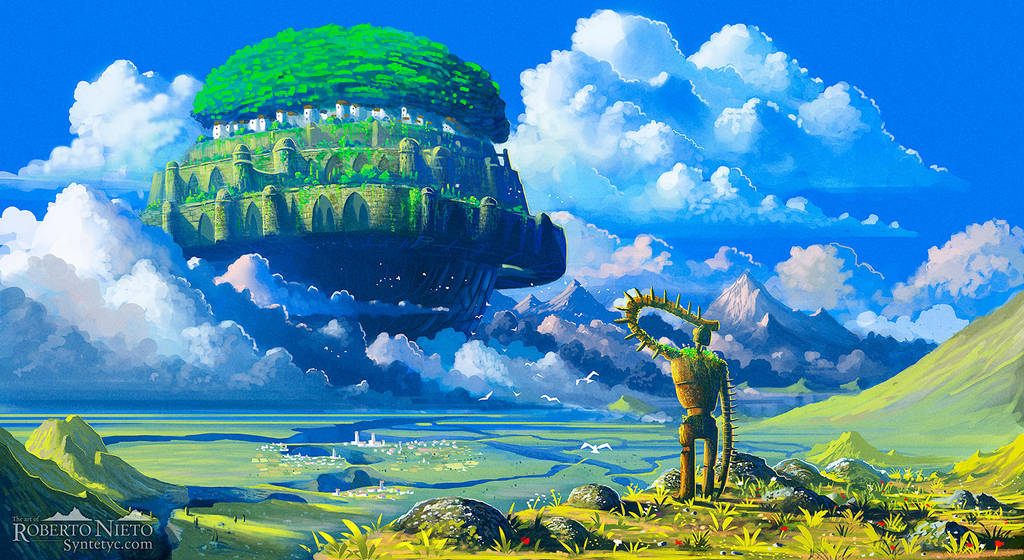 Laputa: Castle in the Sky by Syntetyc