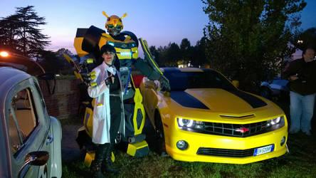 Abby Sciuto and Bumblebee by FrancescaNekoryu