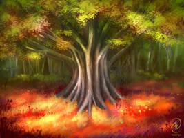 Tree Sketch by Kaeriya