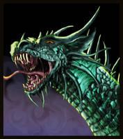 Ciruelo Cabral Dragon Head by FleetingEmber