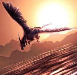 Sunset Dragon by FleetingEmber
