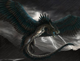Wyvern Storm by FleetingEmber