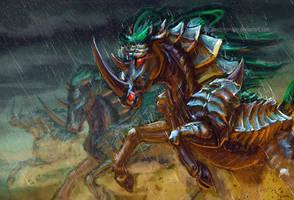 War Unicorn by FleetingEmber
