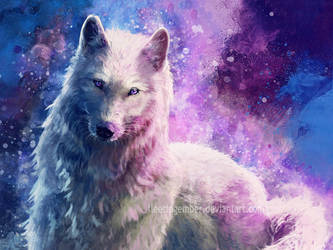 White Wolf Galaxy by FleetingEmber
