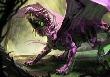 Disease Dragon by FleetingEmber