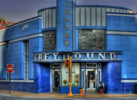 Greyhound Art Deco by boron