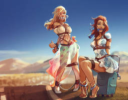 Hitchhikers by SanePerson