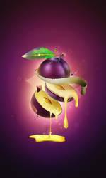 Sliced Fruits:Plum by Virus69