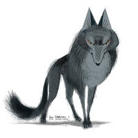 Character concept for The Wolf by evelmiina