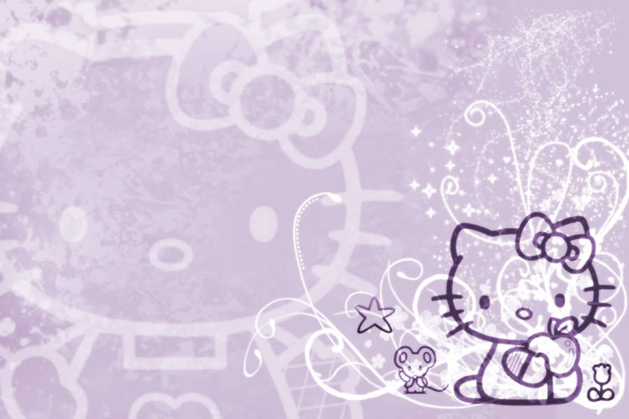 Hello Kitty Wallpaper Purple By Luvphotoshop On Deviantart