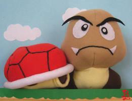 Koopa Shell and Goomba by adnileb