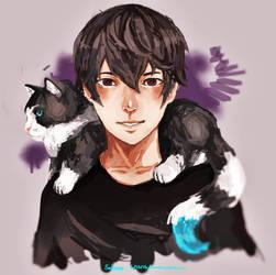 His friend cat by ametamago