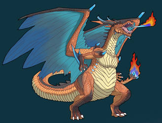 Draconic Charizard by Koolifu