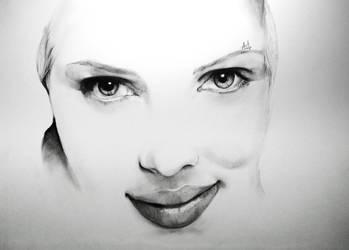 Scarlett Johansson - Minimal Portrait by Iza-nagi