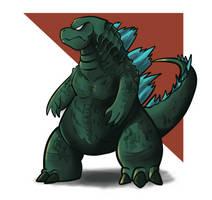 Godzilla by Anaugi