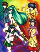 Rumiko Girls by Dark-Zelda777