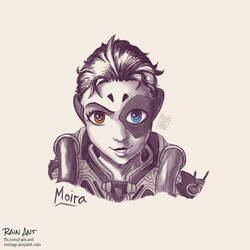 Moira (Overwatch) - Sketch by rain-ant