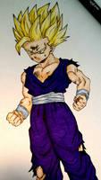 Teen Gohan (Super Saiyan 2) - Dragon Ball Z by AjkaSketch