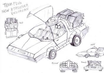 Team Flux New Delorean Rough Concept Design by BreakoutClub