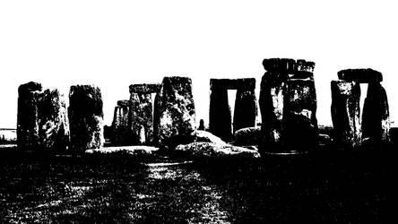 Stonehenge duotone by cartapus25