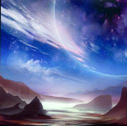 Space Landscape by Nneila