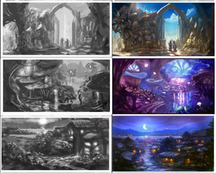 environment concepts by Nneila