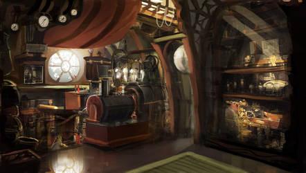 steampunk room by Nneila