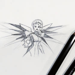 Sketch - Mercy of Overwatch by PixelMistArt