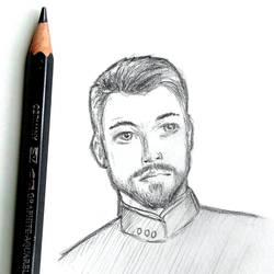 William Riker - graphite sketch by PixelMistArt