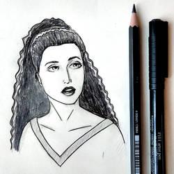 Deanna Troi - sketch by PixelMistArt