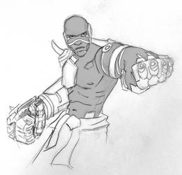 Doomfist Sketch - Overwatch Fanart by PixelMistArt