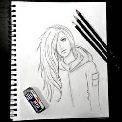 Emika Chen - Warcross - sketch by PixelMistArt