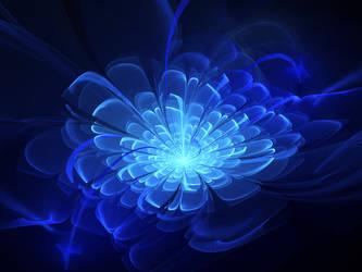 Deep Blue Flower by ZzFOXzZ