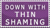 Thin shaming Stamp by FireFlea-San
