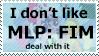 Anti-My Little Pony Stamp by FireFlea-San