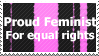 Feminism Stamp by FireFlea-San