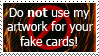 No to Fake Cards Stamp by FireFlea-San