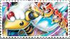 Mega Ampharos Stamp by FireFlea-San