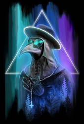 Neon gothic: Plague doctor by ShauniRaven
