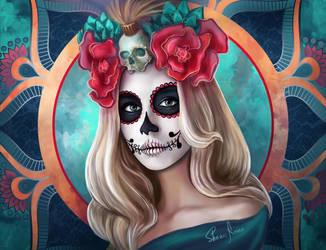 Sugar skull by ShauniRaven