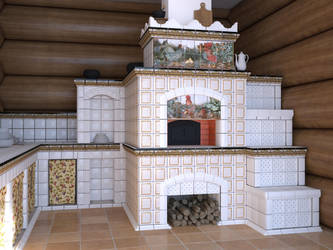 Russian traditional stove Cam2 by i-t-h-i-l