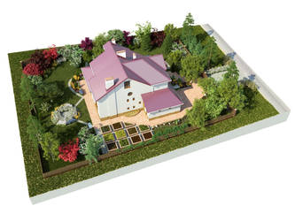 The backyard garden visualization N2 cam2 by i-t-h-i-l