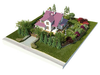 The backyard garden visualization N2 cam1 by i-t-h-i-l